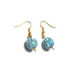 Boucles d'Oreilles Shale MW Ocean Blue