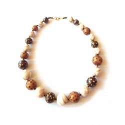 Mini Tango Safari Cheque Necklace