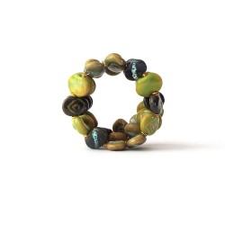 Shale M/W Summer Green Kazuri Bracelet