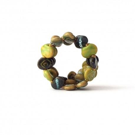 Bracelet Kazuri Shale M/W Summer Green