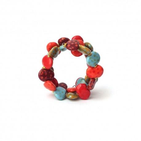 Shale M/W Scandinavia Mix Kazuri Bracelet