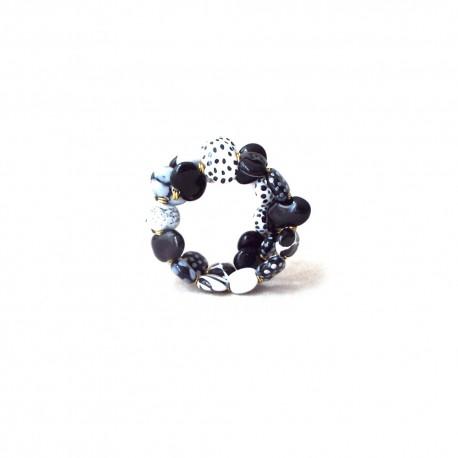 Shale M/W Black and White Bracelet