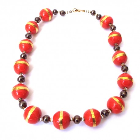 Doria WG Rosso Orange Necklace