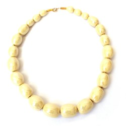 Mini Charleston MOP Vivid Yellow Necklace