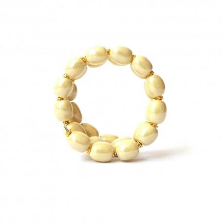 Mini Charleston MOP Vivid Yellow Bracelet