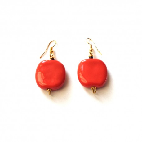 Doria WG Rosso Orange Earrings