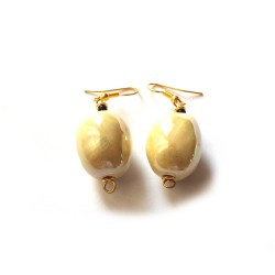 Boucles d'Oreilles Mini Charleston MOP Vivid Yellow