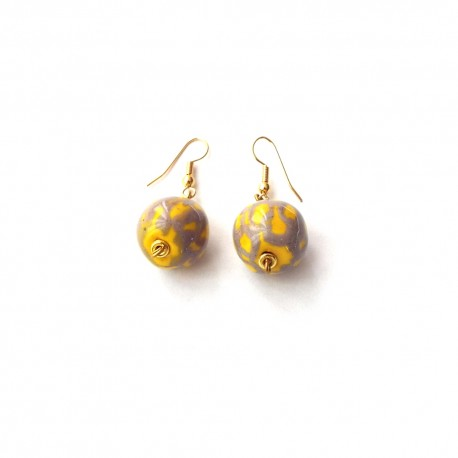 Boucles d'Oreilles Kikoy 2 Lemon Mix