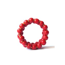 Candy Ting ting Bright Red Black Bracelet