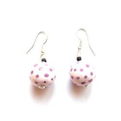 Tombola MOP Puple Roller Earrings