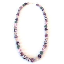 Collier Tombola MOP Purple Roller