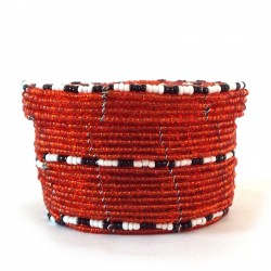Small red jewellery basket