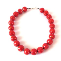 Candy Tingting Bright Red/Black Necklace