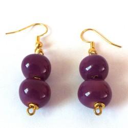 Plain Rounds Lavender Girl Earrings